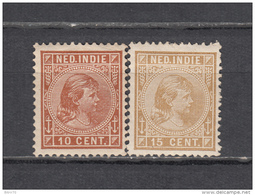 1891   YVERT  Nº   23  , 25  ,   / * / - India Holandeses