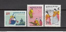 1967    YVERT  Nº 474 / 476    / ** / - Corea Del Norte