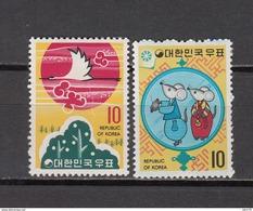 1971    YVERT  Nº 689 / 690    / ** / - Corea Del Norte