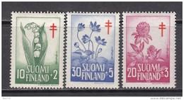 1958   YVERT  Nº 472 / 474    / * / - Finland