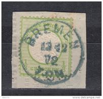 1872   MICHEL   Nº  17 A   -- Stempel Blau  BREMEN -- - Oblitérés