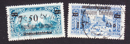 Lebanon, Scott #83-84a, Used, Scenes Of Lebanon Surcharged, Issued 1927 - Great Lebanon (1924-1945)
