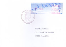 FRANCE : OFFICIAL METER FRANKED POSTAL LABLE WITH CANCELLATION : YEAR 1992 : ISSUED FROM PARIS - France