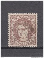 1870    EDIFIL  Nº 109 - 1870-72 Regencia