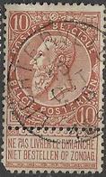 9W-943: LICHTERVELDE: N°57: E9... Met Korte Hoek... - 1893-1900 Fine Barbe