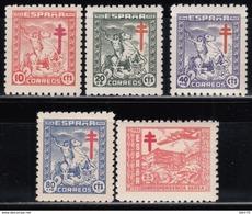1944  EDIFIL Nº 984 / 988    MNH - 1931-50 Nuevos & Fijasellos