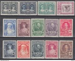 1926 EDIFIL Nº 325 / 338   /*/, PRO CRUZ ROJA ESPAÑOLA - 1889-1931 Königreich: Alphonse XIII.