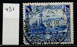 Italie - Italy - Italien 1939 Y&T N°431 - Michel N°622 (o) - 1,25l Locomotives - Gebraucht