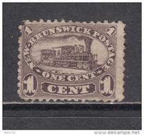 1860 - 1863    YVERT  Nº 4a   ( * ) - Nuevo Brunswick