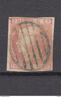 1852   EDIFIL  Nº 12    -- Parrila Azul -- - 1850-68 Royaume: Isabelle II