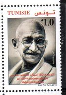 TUNISIA, 2018, MNH, GANDHI ,1v - Mahatma Gandhi