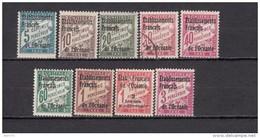 1926 - 1927   YVERT  Nº 1 / 9   / * / - Strafport