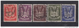 1923   MICHEL  Nº 263 / 267    -- Geprüft -- - Usati