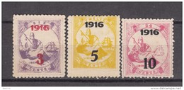 1916  YVERT  Nº 134 / 136   ( * ) - Liberia