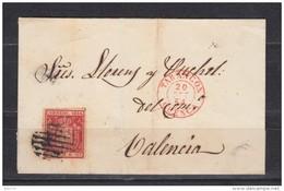 TARANCON  A  VALENCIA   ,  EDIFIL  Nº 24 , - Cartas