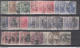 1902 - 1915 Michel Nº 70b, 84I, 85Ia, 86Ia, 87Ia, 87Id, 90I, 86IIa, 87IIa, 87IId, 90IIb, 92IIb, 98,  Gestempelt Geprüft - Usados