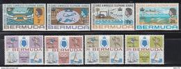 1967 - 1968.    YVERT Nº 202 / 205, 214 / 217.    /**/ - Bermudas