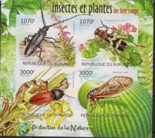 Burundi - 2012 - N°1540 à 1543 - Insectes - Non Dentelé / Imperf. - Neuf Luxe ** / MNH / Postfrisch - Cote 18€ - Insectes
