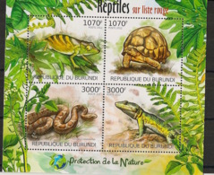 Burundi - 2012 - N°1548 à 1541 - Reptiles - Neuf Luxe ** / MNH / Postfrisch - Cote 18€ - Reptiles & Batraciens