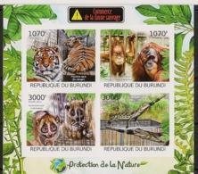Burundi - 2012 - N°1564 à 1567 - Commerce - Non Dentelé / Imperf. - Neuf Luxe ** / MNH / Postfrisch - Cote 18€ - Félins