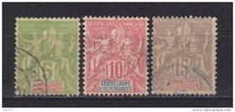 1900 - 1901    YVERT  Nº 40 , 41 , 42 - Usati