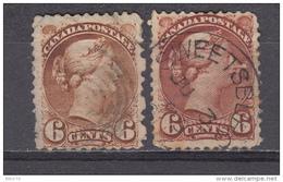 1870  - 1893  YVERT   Nº 32 , 32a - 1851-1902 Reinado De Victoria