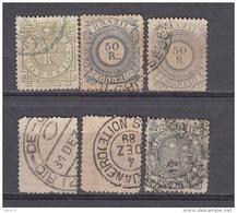 1884 - 1888   YVERT   N  59 , 60 , 63 , 64 , - Usados