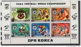 KOREA 1981   YVERT  Nº   1643 / 1647       / ** / - Fußball-Weltmeisterschaft
