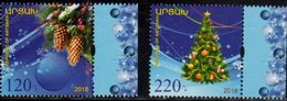 NAGORNO KARABAKH, REPUBLIC OF ARTSAKH , 2018, MNH, CHRISTMAS,  TREES, 2v - Christmas