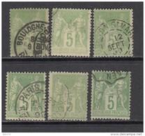 1877 - 1880   YVERT  Nº  106 - 1876-1898 Sage (Type II)