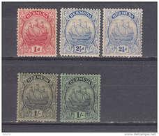 1922 - 1934  YVERT Nº 75a , 78 , 78a , 83 , 83a   / * / - Bermudas