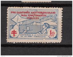 PRO SANATORIO ANTITUBERCULOSO PARA FUNCIONARIOS PUBLICOS  10cts - Nationalist Issues