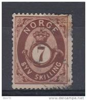 1871 - 75  YVERT N 21 - Noruega