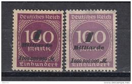 1923 MICHEL N 331a / 331b  MH / * / - Duitsland