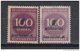 1923 MICHEL N 331a / 331b  MH / * / - Infla
