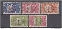 1959  YVERT Nº  68 / 72   / * / - Yemen