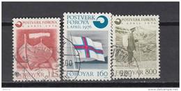1976    YVERT  Nº  15 / 17 - Islas Faeroes