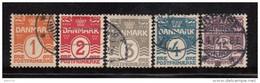 1905   YVERT  Nº 48 / 52 - Usati