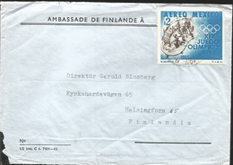 J) 1965 MEXICO, XIX OLYMPIC GAMES, AIRMAIL, CIRCULATED COVER, FROM MEXICO TO FINLAND - Mexico