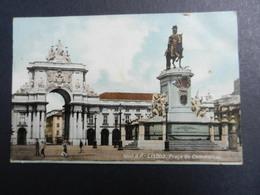 19924) LISBONA PIAZZA COMMERCIO LISBOA PRACA DO COMMERCIO VIAGGIATA 1908 - Lisboa