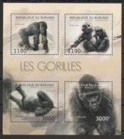 Burundi - 2012 - N°1770 à 1773 - Gorilles - Neuf Luxe ** / MNH / Postfrisch - Cote 19€ - Gorilles