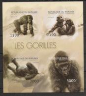Burundi - 2012 - N°1770 à 1773 - Gorilles - Non Dentelé / Imperf. - Neuf Luxe ** / MNH / Postfrisch - Cote 19€ - Gorilles