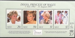 Niue 1998 Diana Princess Of Wales S/S - Niue