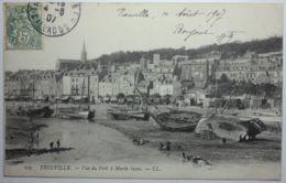 TROUVILLE Vue Du Port à Marée Basse - Trouville