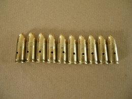 10 Cartouches 9 Mm époque Indochine 1950 (neutralisées) - Equipement