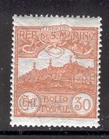 SAN MARINO 1925 30c Mt. Titano Scott Cat. No(s). 58 MH - Unused Stamps