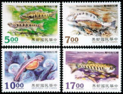 1995 Taiwan Trout Stamps Fish Fauna - Environment & Climate Protection