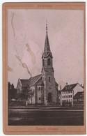 (100)  Photo Sur Carton Fribourg  Temple Reformé   16,5X11cm (Bon Etat) - FR Fribourg