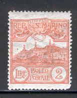 SAN MARINO 1921 2 L Mt. Titano Scott Cat. No(s). 73 MH - San Marino