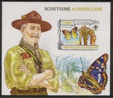 Burundi - 2013 - Bloc BF N°342 - Scoutisme - Non Dentelé / Imperf. - Neuf Luxe ** / MNH / Postfrisch - Papillons